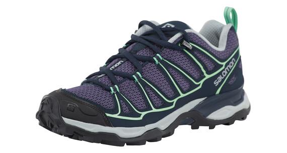 Salomon X Ultra Prime Hiking Shoes Women Artist Grey-X/Deep Blue/Lucite Green